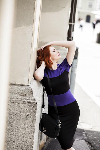 Purple Black Dress 1