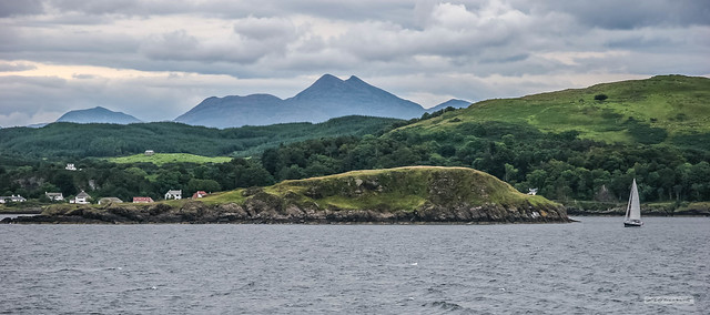 Ben Cruachan from the Oban to Mull Ferry, just north of Oban Bay.