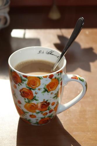 Kaffee am frühen Morgen