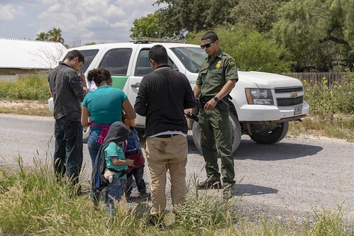 3 Adult and 3 Child Migrants surrender to U.S. Border Patrol Agents near the Rio Grande | by CBP Photography