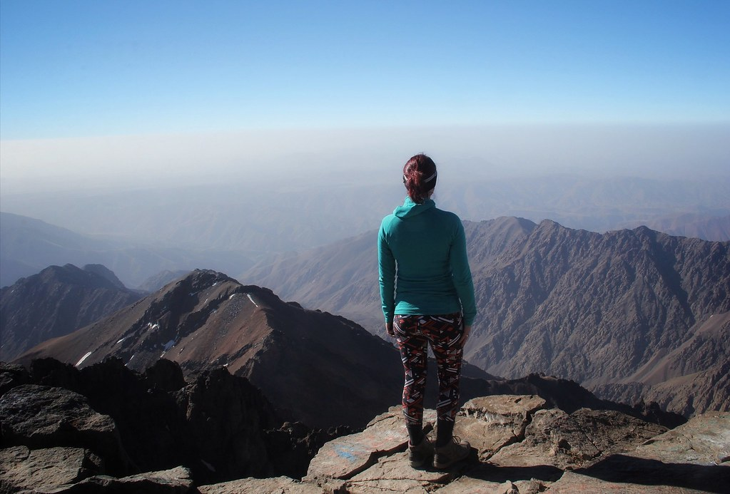 Me at the summit of Mount Toubkal
