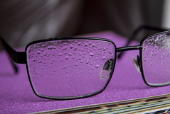 Raindrops on the glasses!