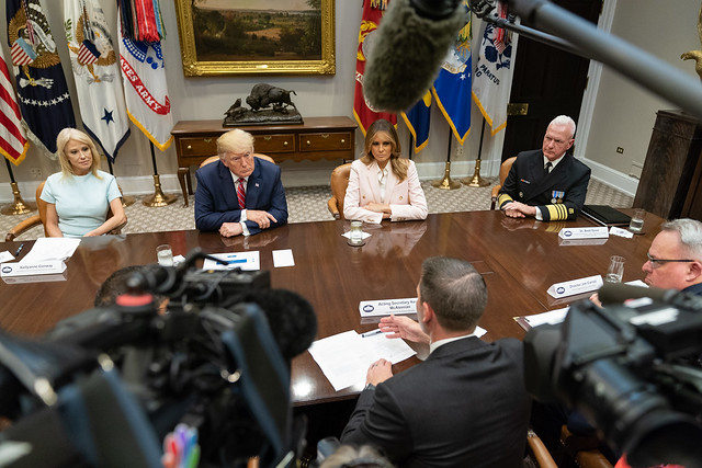 President Trump and First Lady Melania Trump Receive a Briefing on the Opioid Crisis