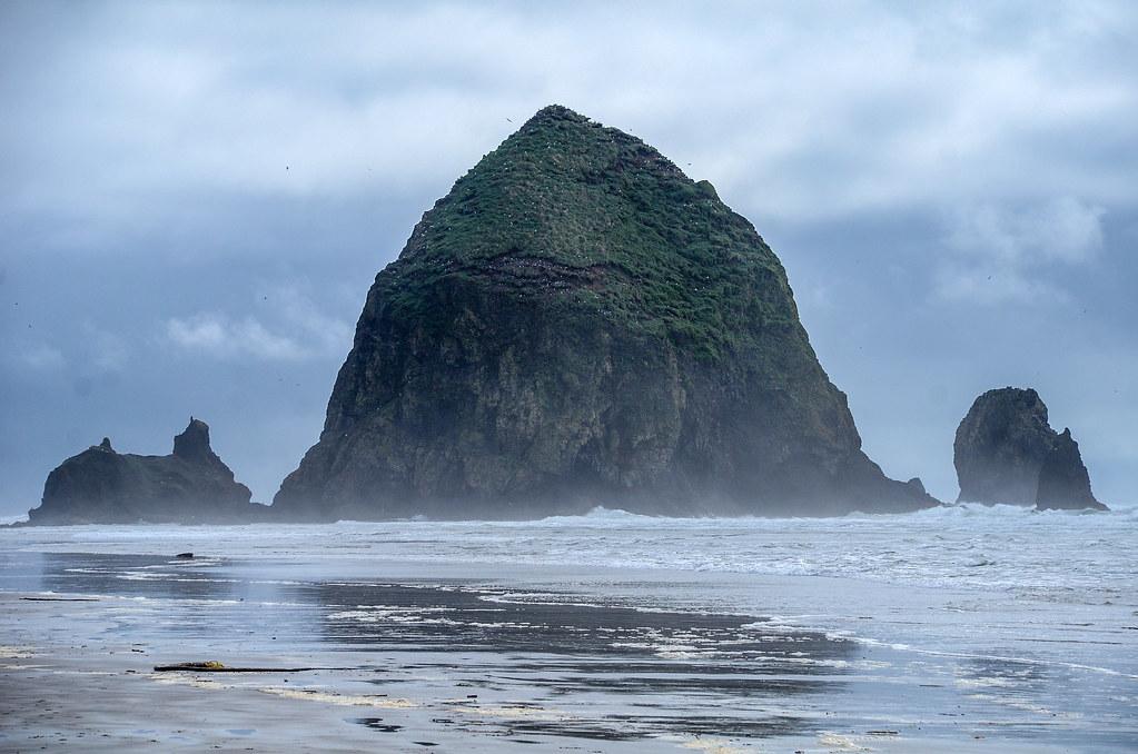 Haystack Rock fog