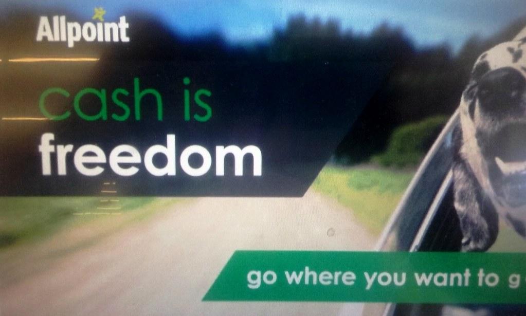 Bank ATM Orwellian motto: