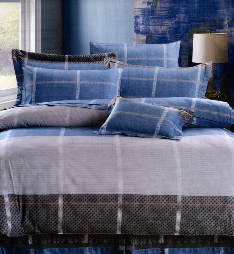 50天絲床罩組6尺花型-1