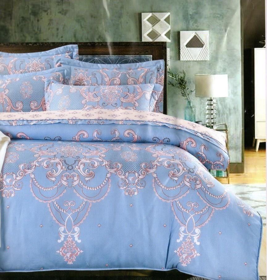 50天絲床罩組6尺花型