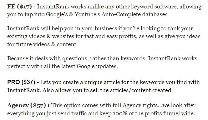 InstantRank Review