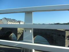 Crossing the bridge at Burgo, La Coruña, Galicia, Spain  1/4