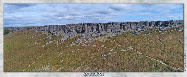 Stanage Edge From The Air