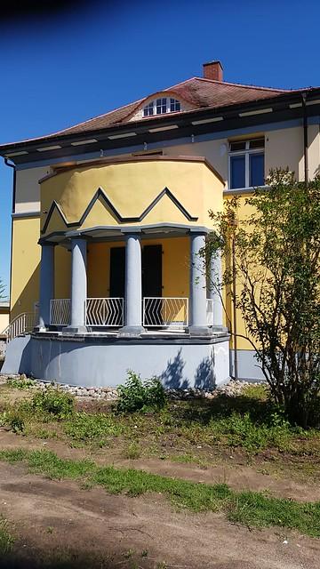 1923 Güstrow expressionistischer Altan mit toskanischen Säulen Villa John-Brinkman-Straße 11 in 18273