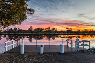 Sunset at Wallamba River Wharf