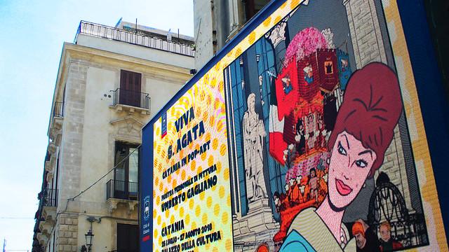 Catania in pop art - Zipaart - Luglio 2018