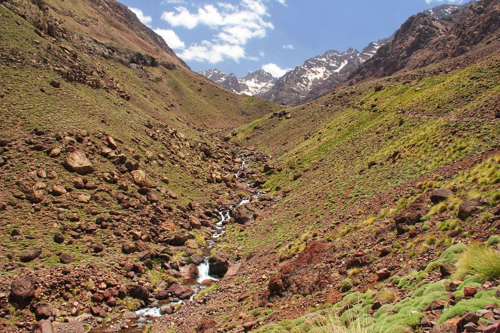 The walk back to Imlil, Mount Toubkal trek