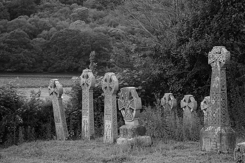 In a churchyard by a river... | by ian mantripp