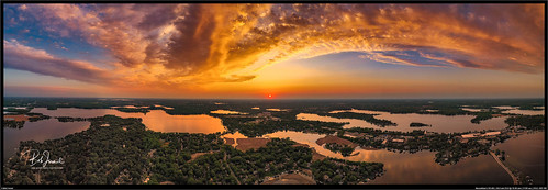 mavic drone lake mavic2pro minnetonka sunset mound minnesota unitedstatesofamerica