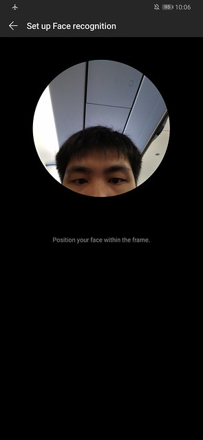 Huawei P30 Pro - Screenshot - Huawei P30 Pro - Screenshot - Facial Recognition