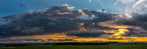 sunset evening drama clouds sonnenuntergang wolken abend sachsen saxonia germany deutschland landschaft landscape panorma panoramic