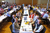 Tisch mit den Ehrengästen in der Badnerlandhalle