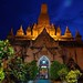 Entrance to the temple at night, Bagan