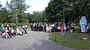 Eröffnung der Gedenkfeier durch eine Bläsergruppe unter der Leitung von Adam Tobias