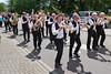 Die 20 Mann starke Blaskapelle Billed-Alexanderhausen mit Kapellmeister Jakob Gross