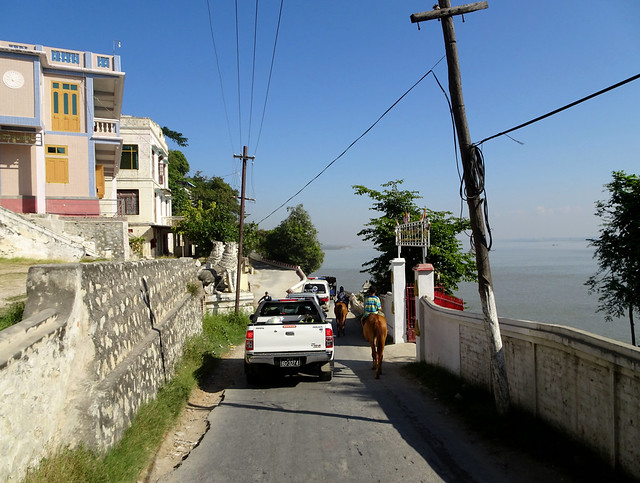 Sagaing region on the western bank of the Irrawaddy River in Myanmar