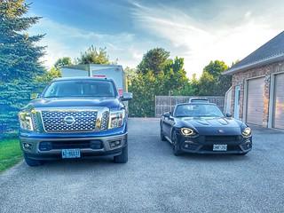 My Nissan Titan and Abarth 124