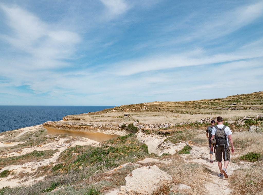 hiking in gozo malta