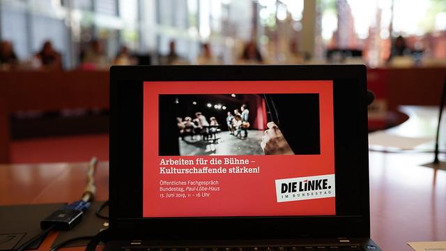 13.06.2019 Arbeiten für die Bühne-Kulturschaffende stärken! Berlin