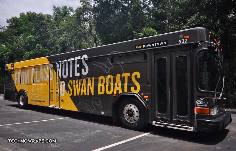Bus vehicle wrap Orlando
