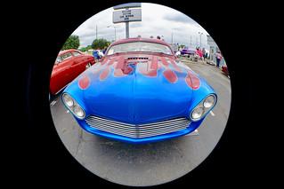 Blue & red custom