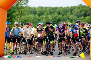 Lined up at the start