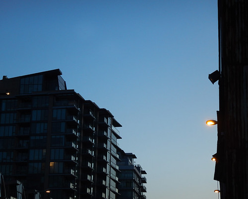 City in the 'Blue Hour', in Olympic Village
