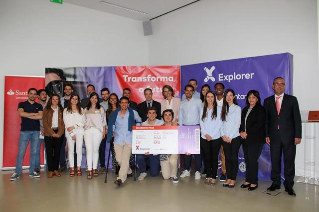 Cerimónia de anúncio dos vencedores do programa Explorer 2019 na Universidade de Coimbra