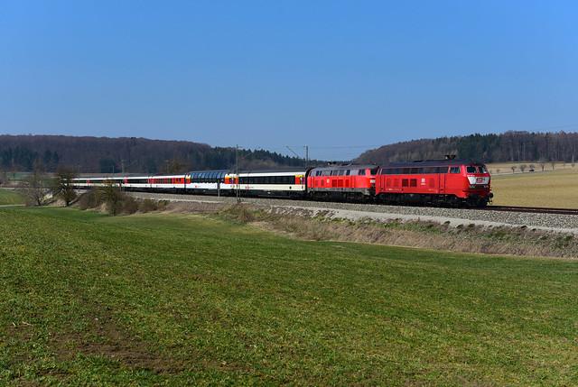 218 402-6 Rail Systems und 218 422-4 DB I EC 191 I Kottgeisering (6788)