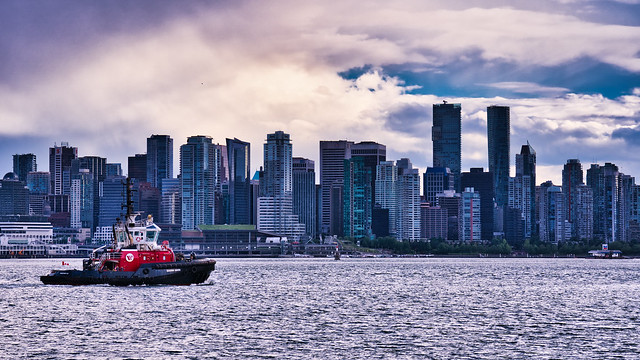 Tugboat and Skyline