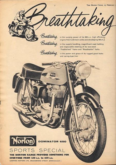 Norton Advertisement - February 1962
