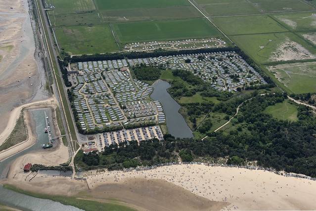 Pinewoods Holiday Park in Wells next the Sea - Norfolk aerial image