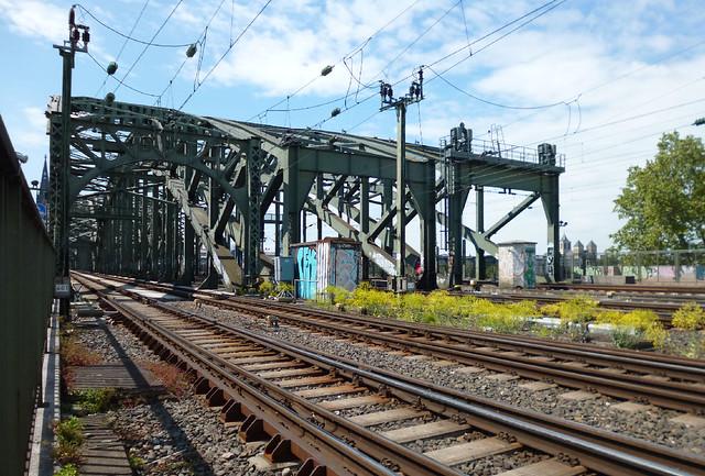 tracks on the Hohenzollernbrucke bridge