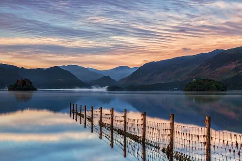 keswick england unitedkingdom lake district reflection reflections sunrise derwent water formatt hitech