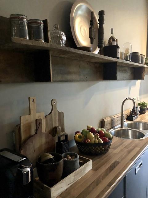 Planken landelijke keuken