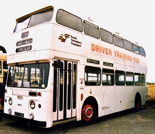 657 BWB 'Sheffield Joint Omnibus Committee' No. 1357 'Driver Training Bus'. Leyland Atlantean PDR1 / Park Royal /2 on Dennis Basford's railsroadsrunways.blogspot.co.uk'