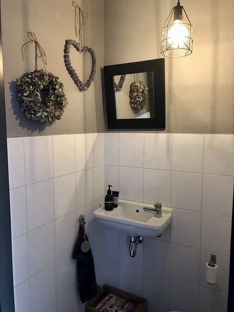 Toilet landelijk ingericht