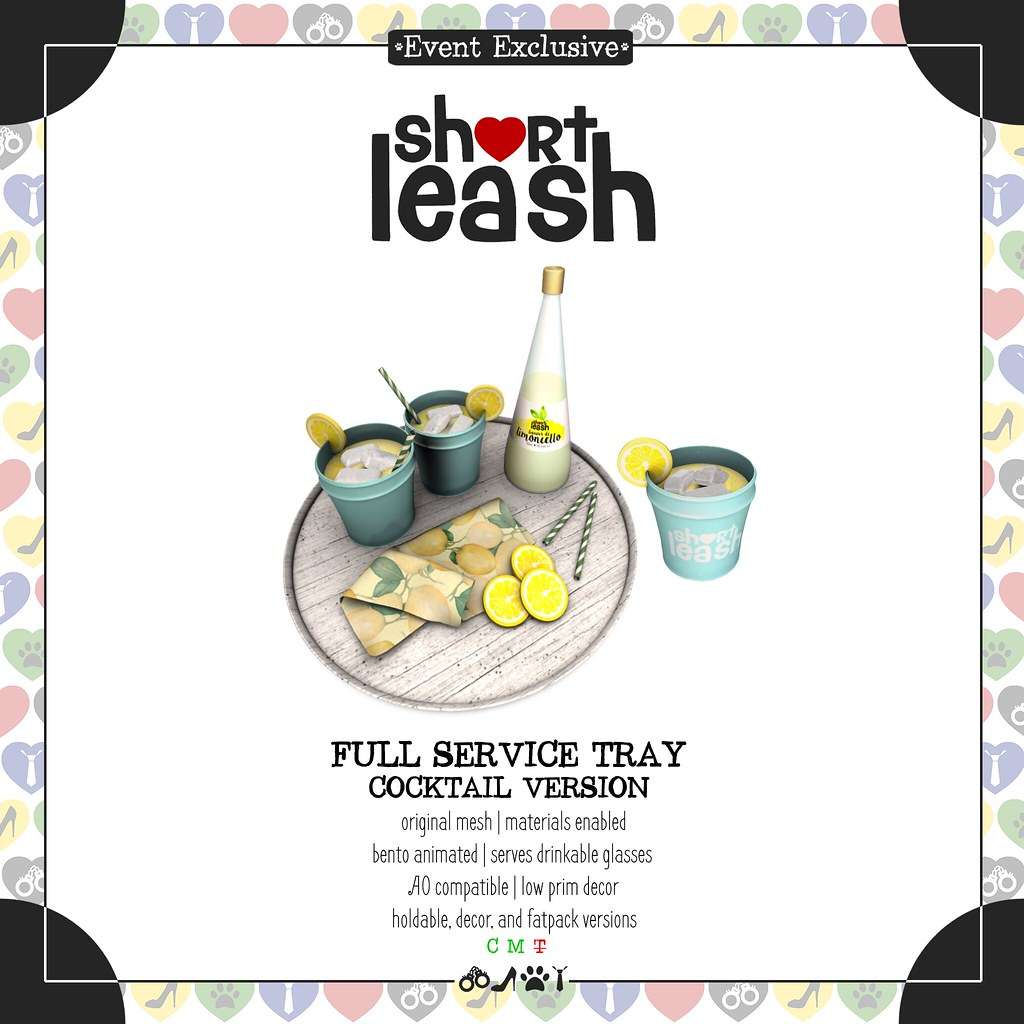 .:Short Leash:. Full Service Tray – Cocktail Version
