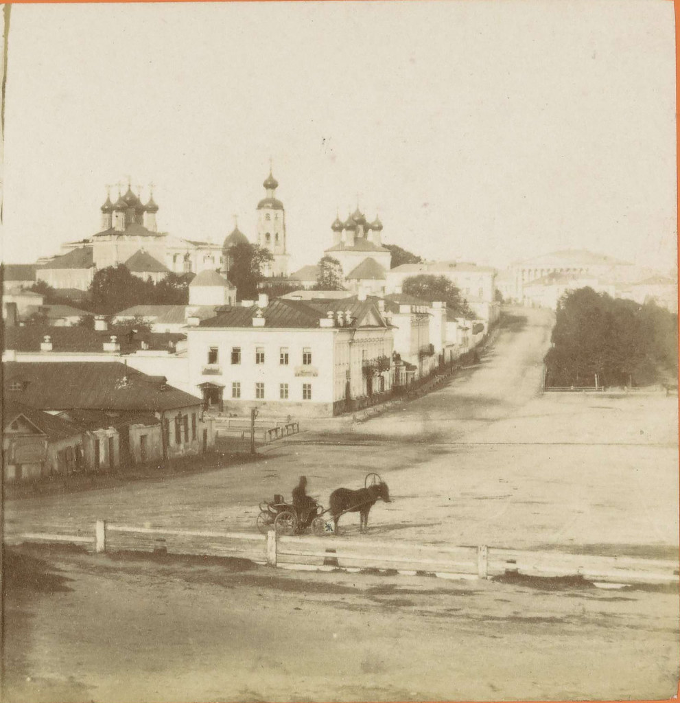 Трубная площадь и Петровский бульвар. 1858