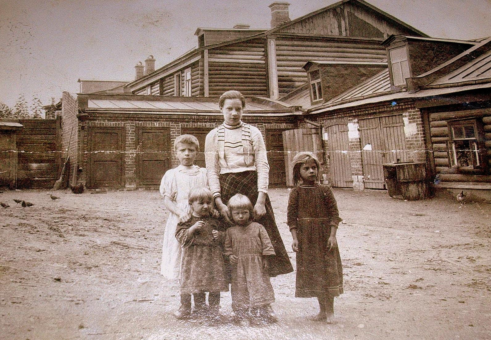 Московский дворик. 1900