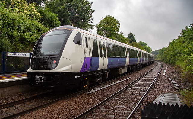 Brand new Crossrail Stock at Kirkby-in-Ashfield on 12/06/2019 on it's way for storage at Worksop.