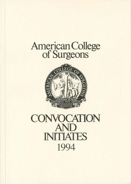 1994 Convocation Book