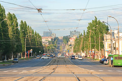 Lenina avenue in Kemerovo city